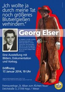 Plakat zur Ausstellung Georg Elser
