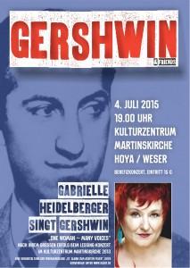 Plakat für das Gershwin-Konzert